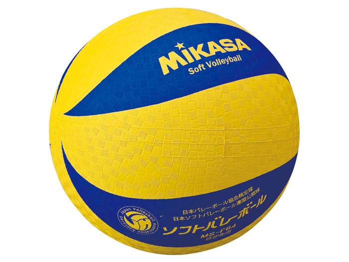 MIKASA カラーソフトバレーボール (バレーボール ボール ソフトバレーボール)イエロー×ブルー(YBL)【スポーツ用品 > チーム スポーツ > バレーボール】【MIKASA/ミカサ】/MSF64