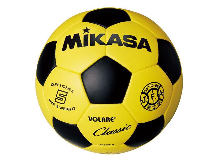 MIKASA サッカーボール 検定球 5号 (フットサル&サッカー ボール サッカーボール5号球)イエロー×ブラック(YBK)【スポーツ用品 > チーム スポーツ > サッカー】【MIKASA/ミカサ】/SVC500