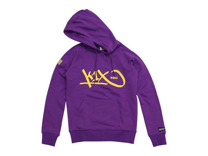 K1X grip tag hoody (バスケットボール トレーニングウェアー スウェット)パープル×イエロー(6204)【スポーツ用品 > チーム スポーツ > バスケットボール】【K1X/ケイワンエックス】/1300-0390