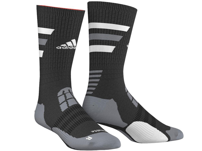 adidas BASKET ID クルーソックス (バスケットボール プラクティスウェアー ソックス)ブラック×ホワイト【スポーツ用品 > チーム スポーツ > バスケットボール】【adidas/アディダス】/M64571
