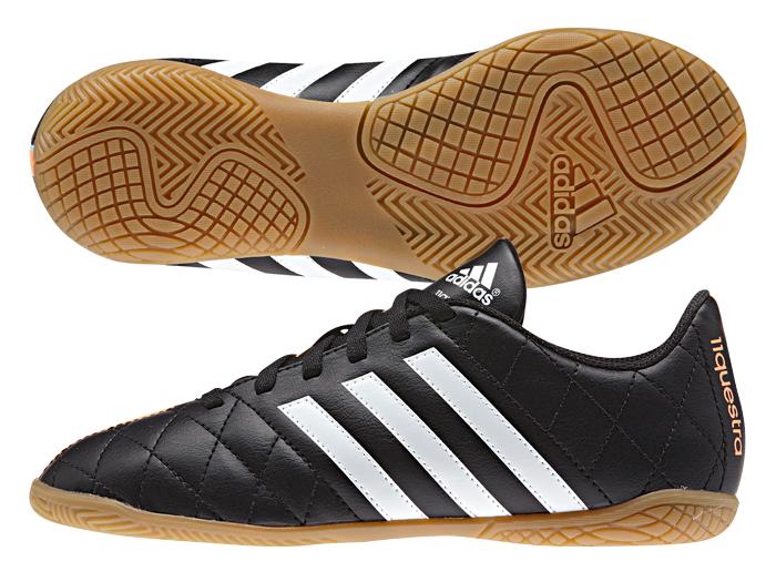 adidas パティーク11クエストラ IN J V (フットサル&サッカー レディス&ジュニア フットサル&サッカーシューズ)コアブラック×ランニングホワイト×フラッシュオレンジ S15【スポーツ用品 > チーム スポーツ > サッカー】【adidas/アディダス】/M29260