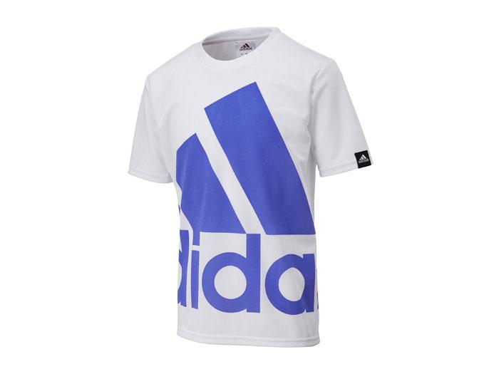adidas ジュニアスーパービッグロゴ Tシャツ (フットサル&サッカー)ホワイト【スポーツ用品 > チーム スポーツ > サッカー】【adidas/アディダス】/A97315