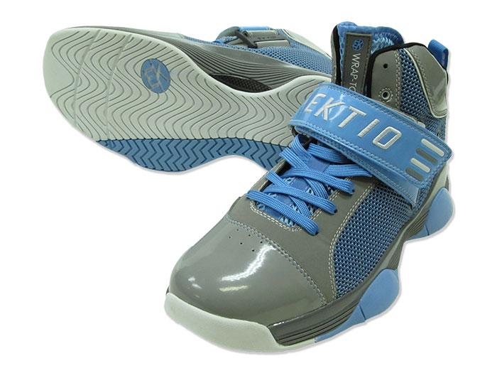EKTIO WRAP-TOR(ラプター) (バスケットボール バスケットボールシューズ 限定シューズ)グレー×ブルー【スポーツ用品 > チーム スポーツ > バスケットボール】【EKTIO/エクティオ】/0810-WT