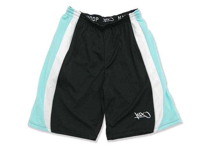 K1X core swish shorts (バスケットボール プラクティスウェアー プラクティスパンツ)ブラック×ミント×ホワイト(0323)【スポーツ用品 > チーム スポーツ > バスケットボール】【K1X/ケイワンエックス】/1400-0155