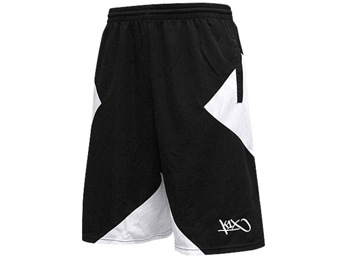 K1X big x shorts (バスケットボール プラクティスウェアー プラクティスパンツ)ホワイト×ブラック(1000)【スポーツ用品 > チーム スポーツ > バスケットボール】【K1X/ケイワンエックス】/1400-0268