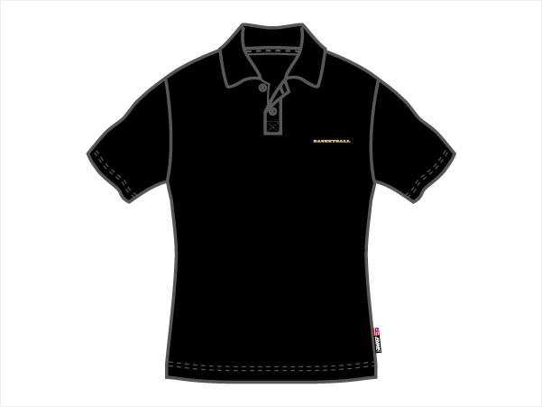BIKE ポロシャツ (バスケットボール Tシャツ 半袖Tシャツ)ブラック(005)【スポーツ用品 > チーム スポーツ > バスケットボール】【BIKE】/BK4204