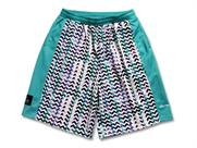 Arch light effect jagged shorts