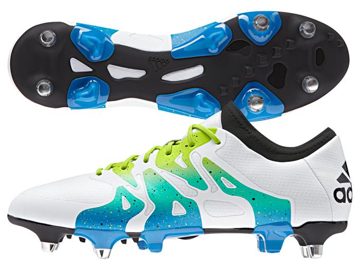 adidas エックス15.1 SG (フットサル&サッカー シューズ スパイク)ランニングホワイト/セミソーラースライム/コアブラック【スポーツ用品 > チーム スポーツ > サッカー】【adidas/アディダス】/S74628