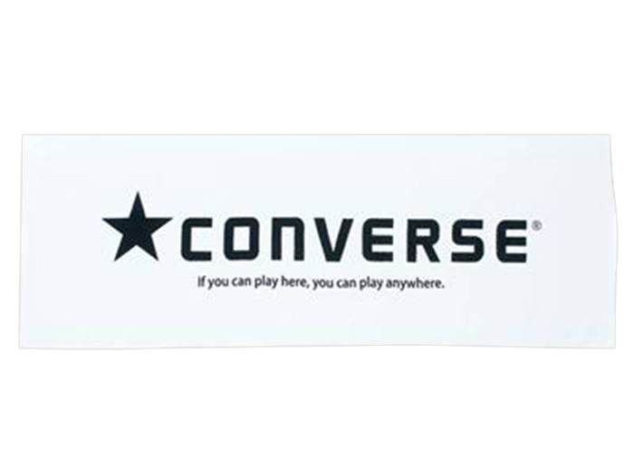 CONVERSE 6F スポーツタオル (バスケットボール アクセサリー・グッズ タオル)ホワイト×ブラック(1119)【スポーツ用品 > チーム スポーツ > バスケットボール】【CONVERSE/コンバース】/CB111902