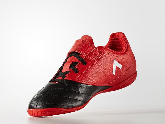 adidas エース 17.4 IN J ベルクロ (フットサル&サッカー シューズ インドアシューズ)レッド/ランニングホワイト/コアブラック【スポーツ用品 > チーム スポーツ > サッカー】【adidas/アディダス】/BB5588