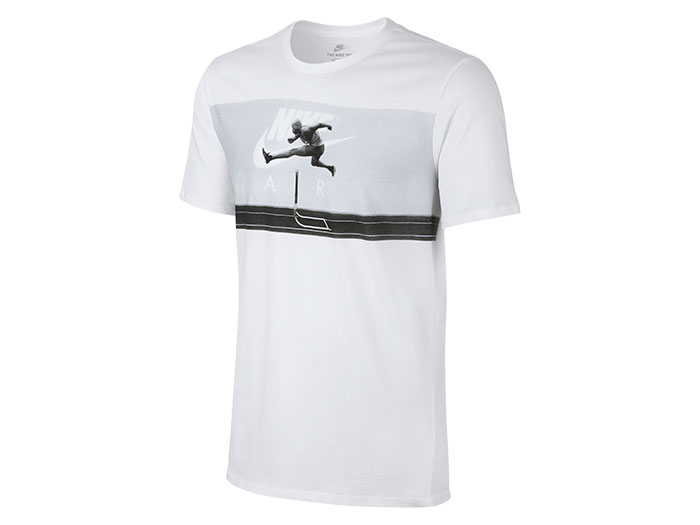 NIKE ナイキ エア ハイブリッド フォト Tシャツ (バスケットボール Tシャツ 半袖Tシャツ)ホワイト/ホワイト/クールグレー(100)【スポーツ用品 > チーム スポーツ > バスケットボール】【NIKE/ナイキ】/834631